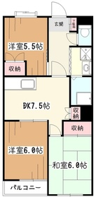 野崎ビル851階Fの間取り画像