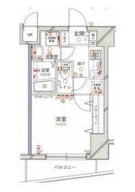 グリフィン横浜・ディアコート3階Fの間取り画像