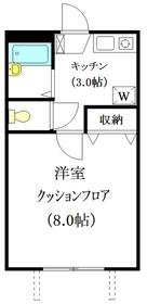 メゾンソレイユ1階Fの間取り画像