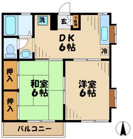 ジュネスMO2階Fの間取り画像