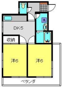 メゾンエスポワール3階Fの間取り画像