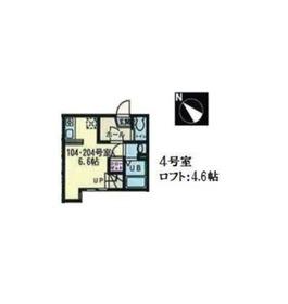 ハーミットクラブハウスクラーネ1階Fの間取り画像