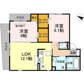 La casa amarilla1階Fの間取り画像