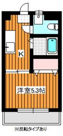 エースコーポ2階Fの間取り画像