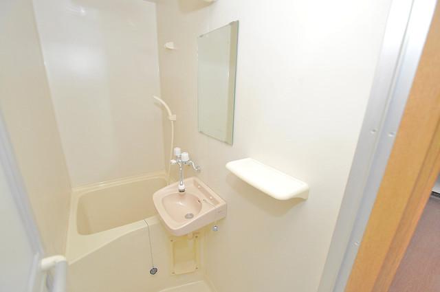 オーナーズマンション菱屋西 可愛いいサイズの洗面台ですが、機能性はすごいんですよ。