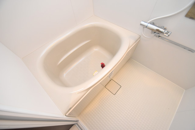 グロースコート弥刀 ゆったりサイズのお風呂は落ちつける癒しの空間です。