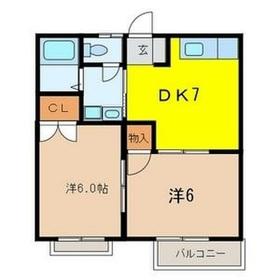 エクシードハイツ2階Fの間取り画像