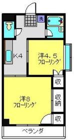 安西マンション2階Fの間取り画像