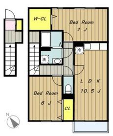 プレミール2階Fの間取り画像