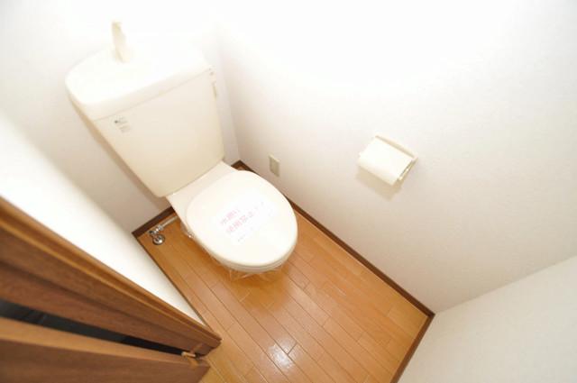 ウェール 清潔感のある爽やかなトイレ。誰もがリラックスできる空間です。