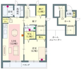 祖師ヶ谷大蔵駅 徒歩20分2階Fの間取り画像