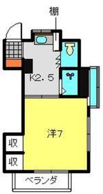 藤井コーポ2階Fの間取り画像