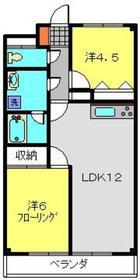 ハピネス飯田Ⅵ3階Fの間取り画像