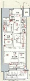 クレヴィスタ横浜新子安6階Fの間取り画像