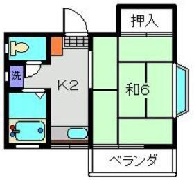 シェモア2階Fの間取り画像