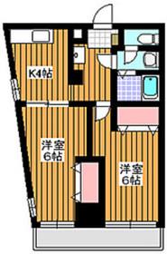 アーバンライフ赤塚4階Fの間取り画像