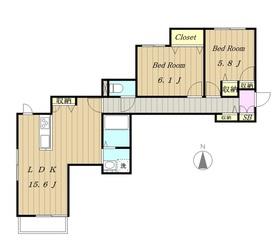 ケルセン2階Fの間取り画像