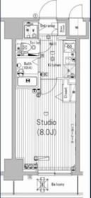 グランド・ガーラ横濱万世町7階Fの間取り画像