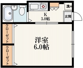 ハイネスタカヒロ1階Fの間取り画像