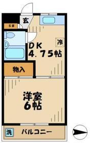 パレス珈房豆2階Fの間取り画像