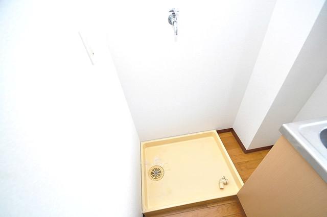 KHビル 洗濯機置場が室内にあると本当に助かりますよね。