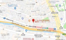 赤羽橋駅 徒歩1分案内図
