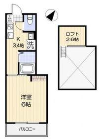 エール・ド・ランジュ武蔵小杉3階Fの間取り画像