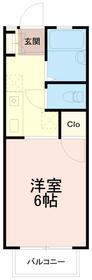 富志正第6ハイツ2階Fの間取り画像