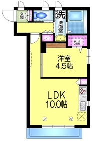 LISO2階Fの間取り画像