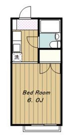 小林ハイツ2階Fの間取り画像
