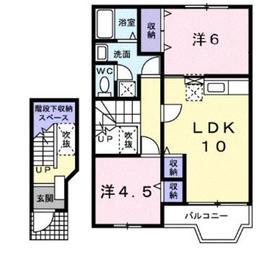 ルーナプレーナ2階Fの間取り画像