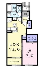レ リアン B1階Fの間取り画像