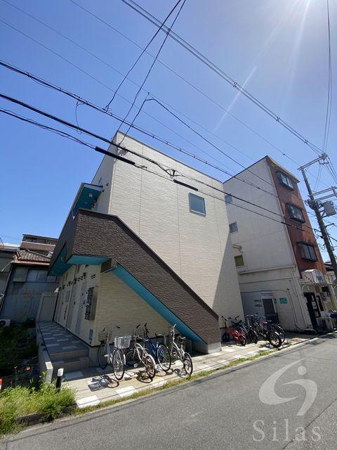 大阪市東住吉区照ケ丘矢田1丁目の賃貸アパートの外観