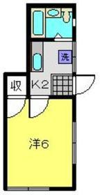 ウッディーコーポ1階Fの間取り画像