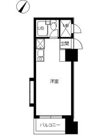スカイコート西横浜第610階Fの間取り画像