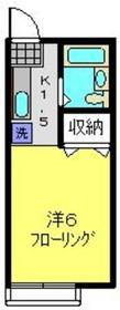 和田町駅 徒歩12分2階Fの間取り画像