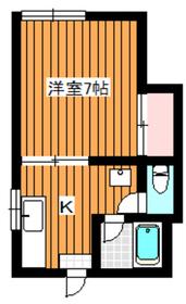 下赤塚駅 徒歩9分2階Fの間取り画像