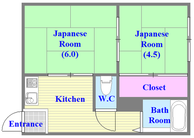 永和ハイツ 和室のあるゆったりした間取です。一度ご覧ください。