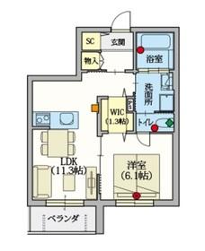 (シニア限定)ヘーベルVillage高島平3階Fの間取り画像