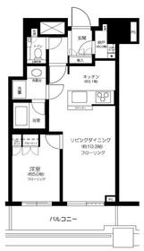 プラウドタワー千代田富士見7階Fの間取り画像
