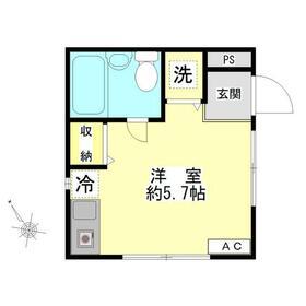 マイハウス世田谷1階Fの間取り画像