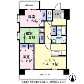 グランフィール5階Fの間取り画像