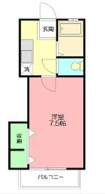 エタニティ1階Fの間取り画像