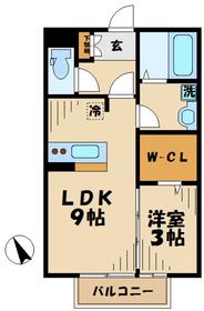海老名駅 車22分7.7キロ2階Fの間取り画像