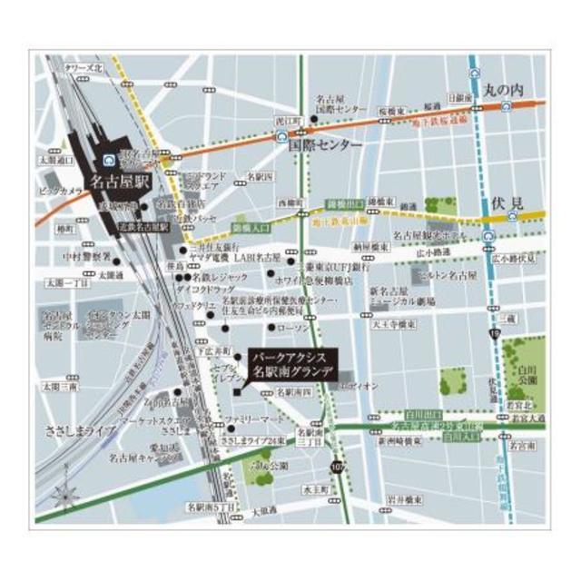 名古屋駅 徒歩11分案内図
