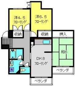 富士マンション4階Fの間取り画像