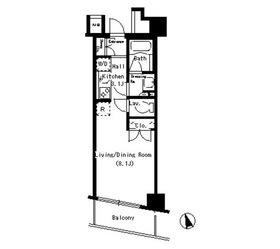 パークアクシス銀座イースト5階Fの間取り画像