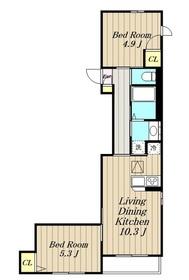 ル・クラージュ1階Fの間取り画像
