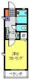 アルテ日吉2階Fの間取り画像