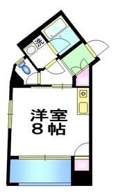 アーバン・ユー6階Fの間取り画像